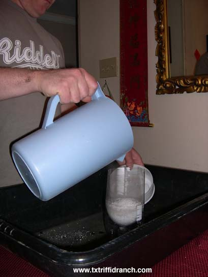 Pouring perlite