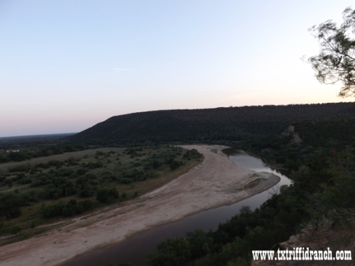 Brazos River, facing south