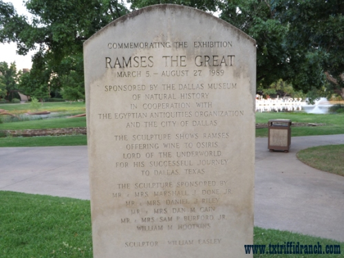 Rameses the Great commemorative stone