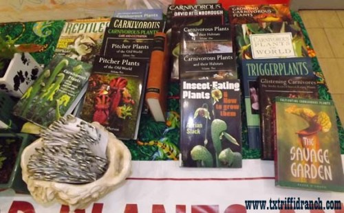 A small selection from my carnivorous plant library