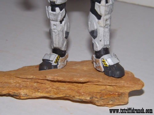 Closeup on Spartan feet