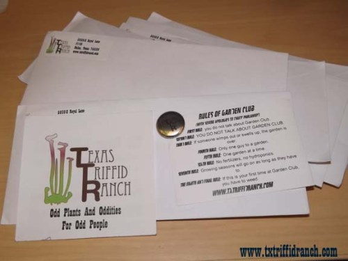 Triffid Ranch freebie letters