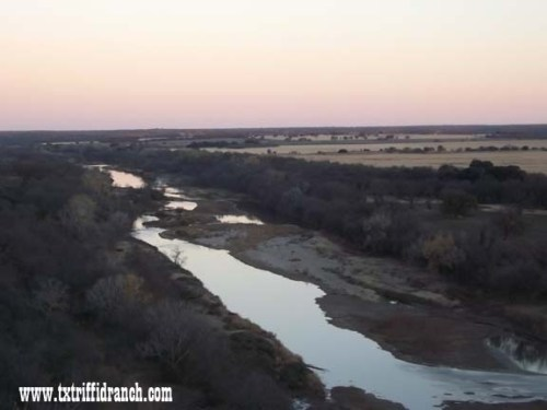 Brazos River at low point