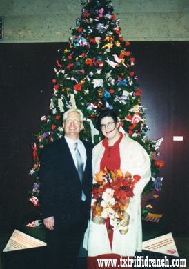 Married under the Christmas Origami tree