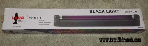 Black light fluorescent fixture