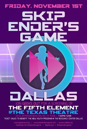 Skip Ender's Game event in Dallas