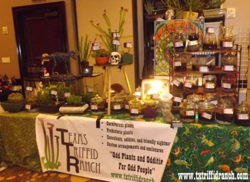 Triffid Ranch booth at FenCon X