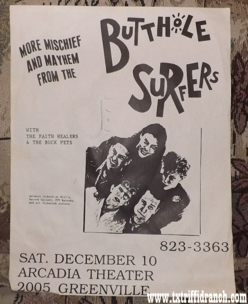 Butthole Surfers flyer