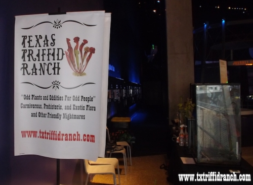 Triffid Ranch banner at the Perot Museum